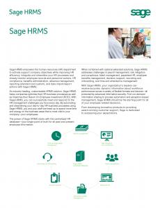 Sage HRMS