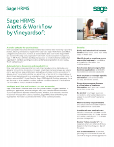 Sage HRMS Alerts and Workflow by Vineyardsoft