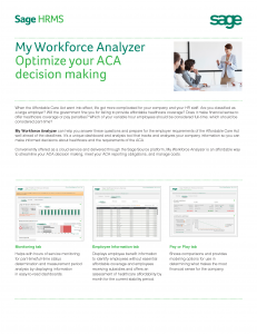 Sage HRMS My Workforce Analyzer Feature Sheet (PDF)