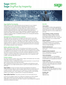 Sage HRMS OrgPlus Brochure (PDF)