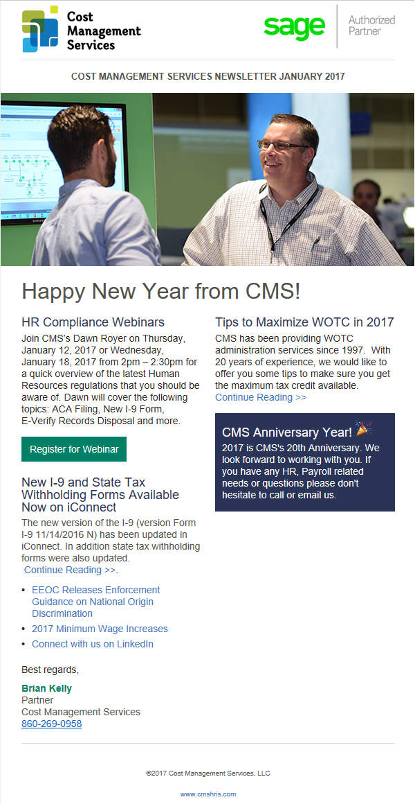 January 2017 Newsletter, click on image above to view content