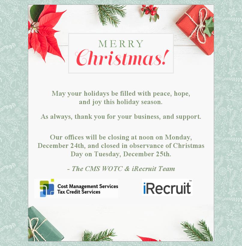 2018 Christmas Message