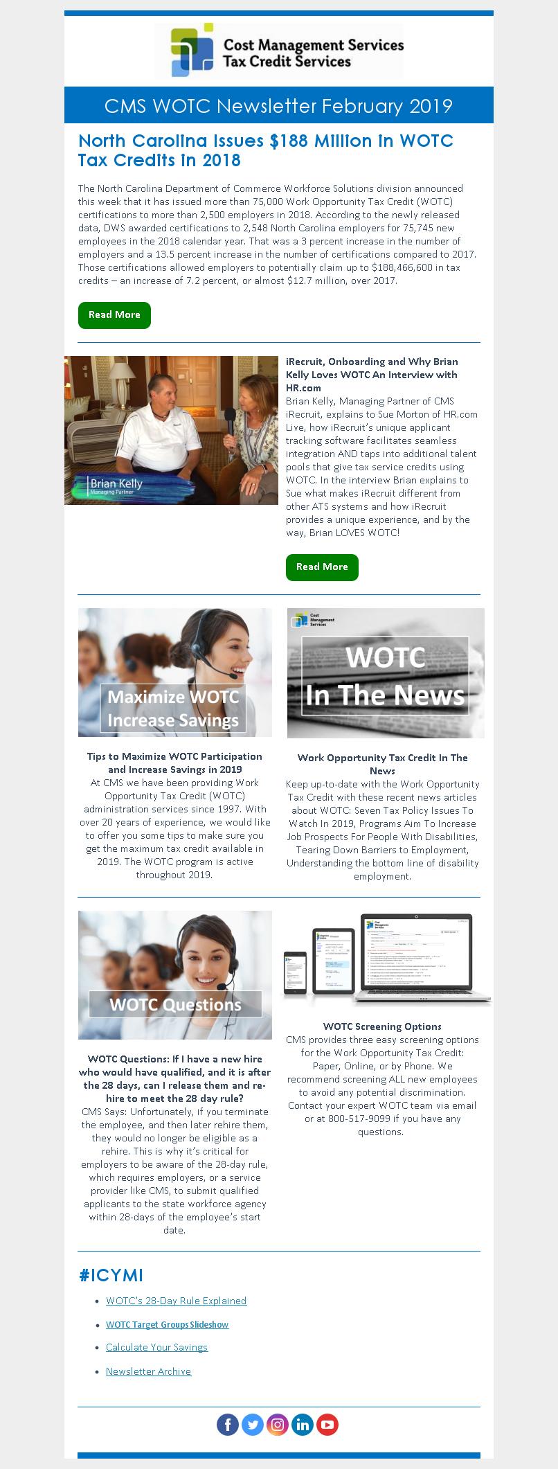 WOTC Customer Newsletter February 2019